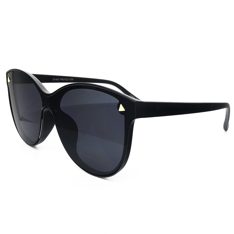 8cfec7f2ed5 Amazon.com  O2 Eyewear 7123 Oversize One Piece Wraparound Semi-Rimless  Shield Lens Womens Mens Sunglasses (Semi-Rimless