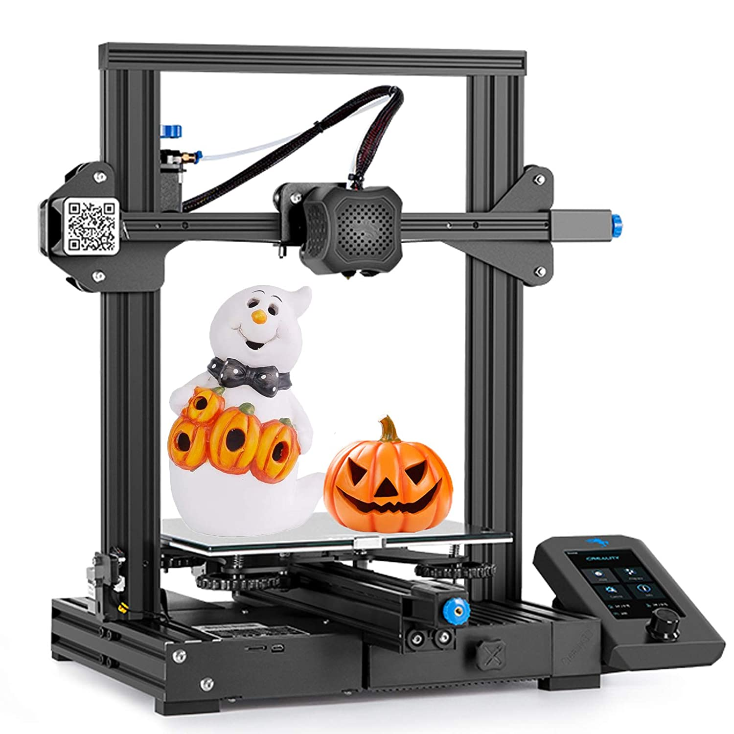 Upgraded Creality Ender 3 V2 3D Printer with Integrated Structure Design Silent Mainboard Carborundum Glass Bed Build Volume 220 x 220 x 250mm Ideal for 3D Enthusiasts