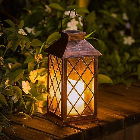 Amazon.com: TAKE ME - Lámpara solar para jardín, impermeable ...