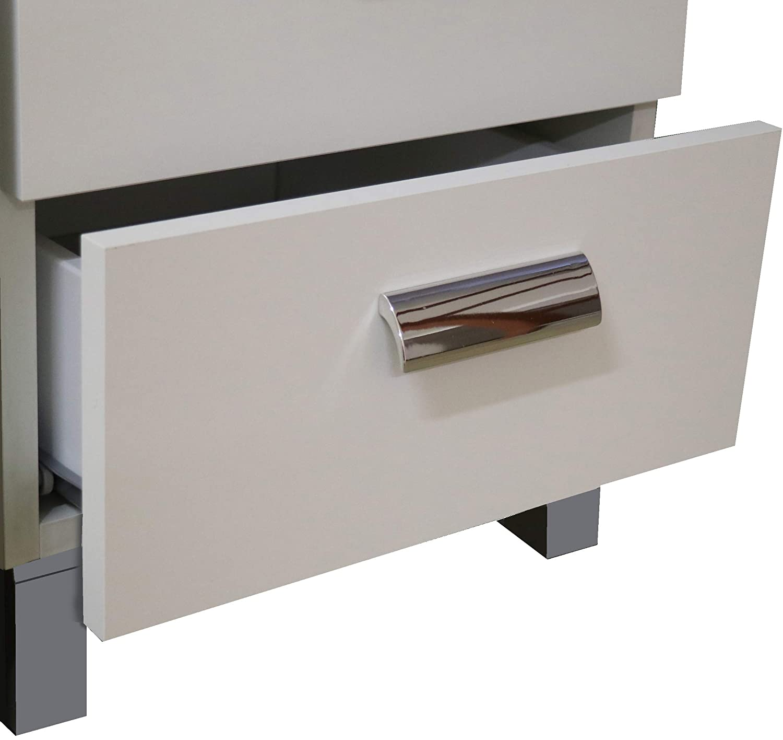 Compra dal Produttore! Bianco Mobile Base Cucina 40 cm 4 cassetti Bianco o Olmo