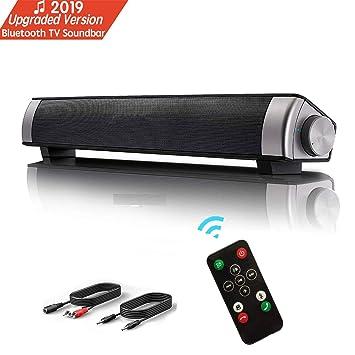 Barra de Sonido, Altavoz PC de Sonido USB, Barra de Sonido de TV, Altavoz Bluetooth con Cable e inalámbrico Altavoz, teléfono Celular, TV, Sonido ...