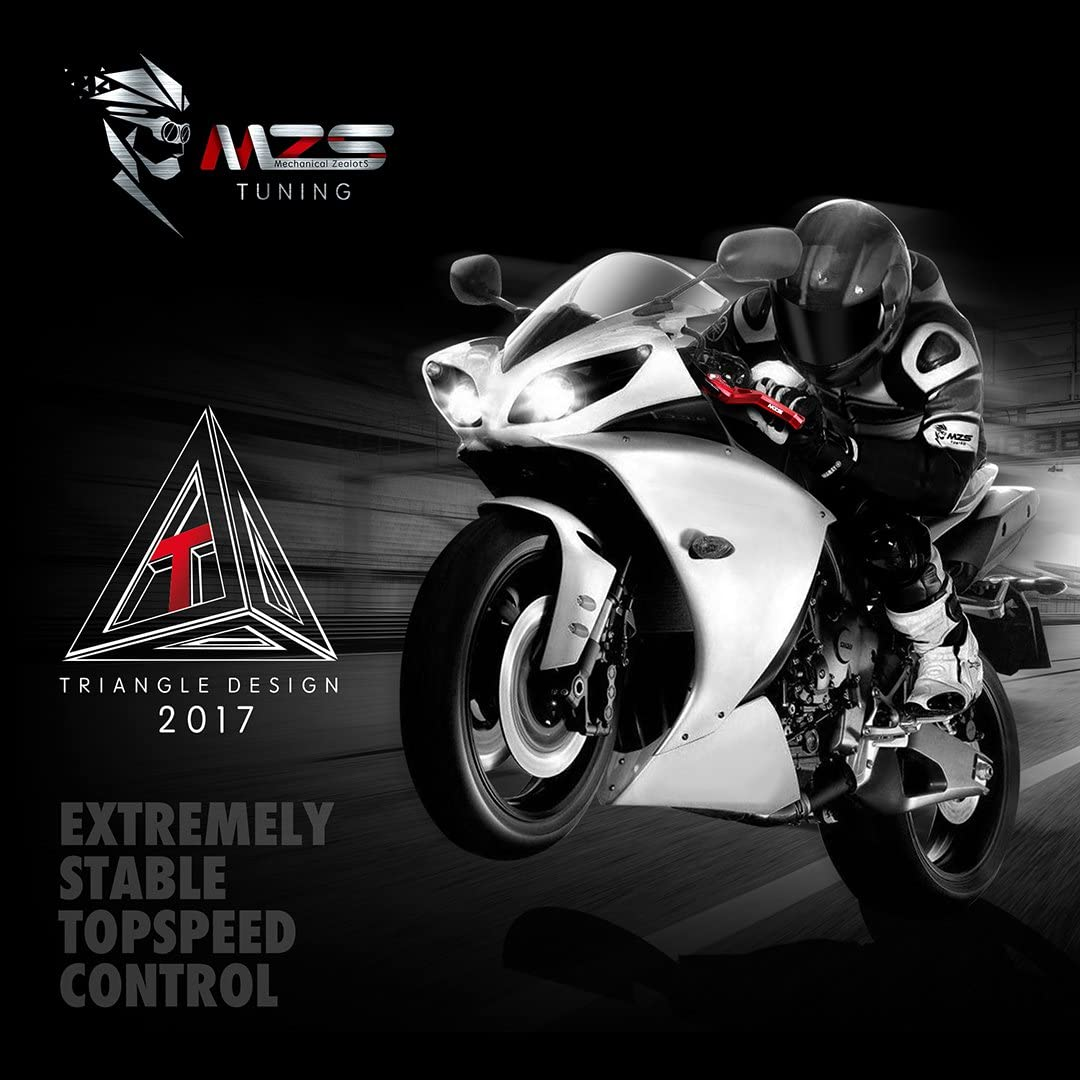 MZS Adjustment Brake Clutch Levers for Yamaha YZF R1//R1M//R1S 2015-2019 Black