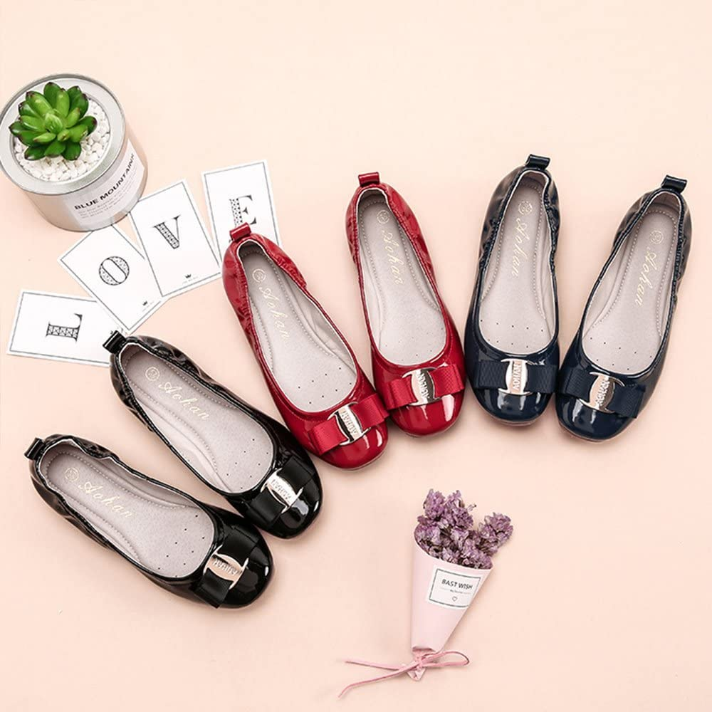 Zarachielly New Girls Folding Shoes Ballet Flats Soft Driving Flats Casual Loafers