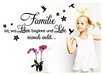 Grandora W5439 Wandtattoo Spruch Familie Ist Wo Leben Beginnt I