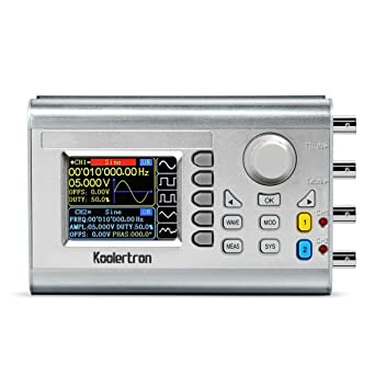Koolertron 15MHz High Precision DDS Signal Generator Counter,Upgraded Dual-Ch...