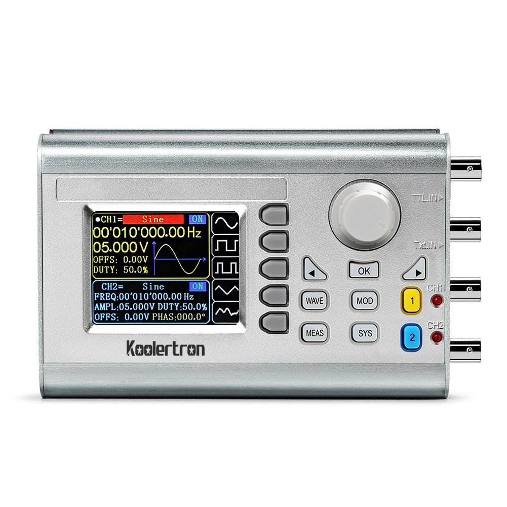 Best Rated In Function Generators Helpful Customer Reviews Component Signal Generator Circuit Designing A Koolertron 15mhz High Precision Dds Counterupgraded Dual Channel Arbitrary Waveform
