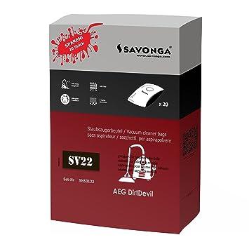 savonga bolsas para aspiradora Severin BC 7045 BC 7055 uvm. 20beutel + 1 filtro de motor + 1 Micro filtro: Amazon.es: Hogar