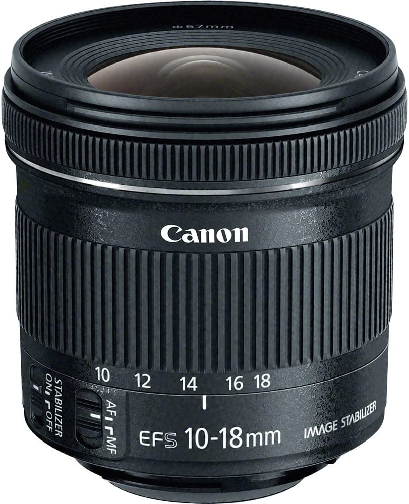 Canon EF-S 10-18mm f/4.5-5.6 is STM Lens Bundle for Canon EOS 7D, 60D EOS Rebel SL1, T1i,T2i,T3, T3i, T4,T5,T5i,XS, XSi,XT,XTi + UV & Polarizer+ Top Value