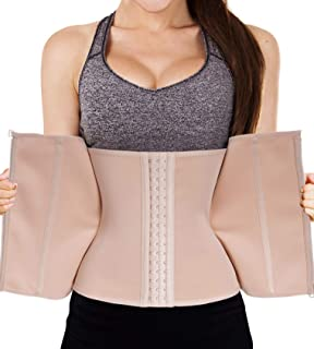a3d7ad9ce7 LODAY Waist Trainer Corset for Weight Loss Tummy Control Sport Workout Body  Shaper Black