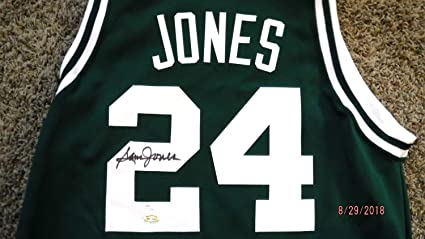 best service 88626 26b50 Sam Jones Show Autographed Signed Celtics Basketball Jersey ...