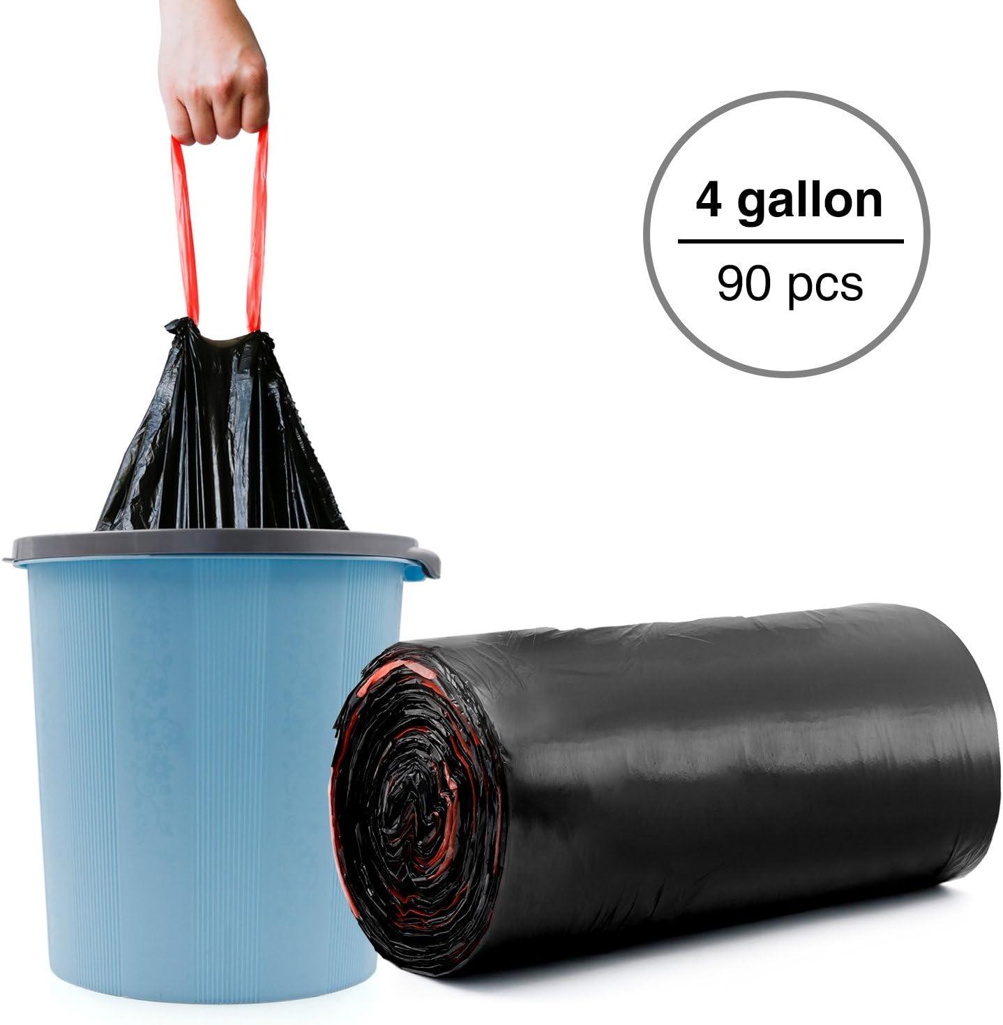 Kitchen Rubbish Bin Bags Liner Garbage Trash Bag Drawstring Handle