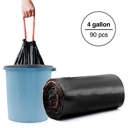 amazon com small trash bags 4 gallon black garbage bags 90 count rh amazon com
