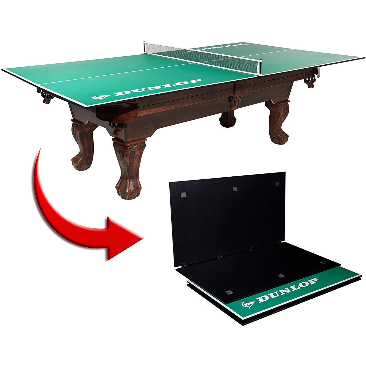 DUNLOP 4 PIECE TABLE TENNIS CONVERSION TOP