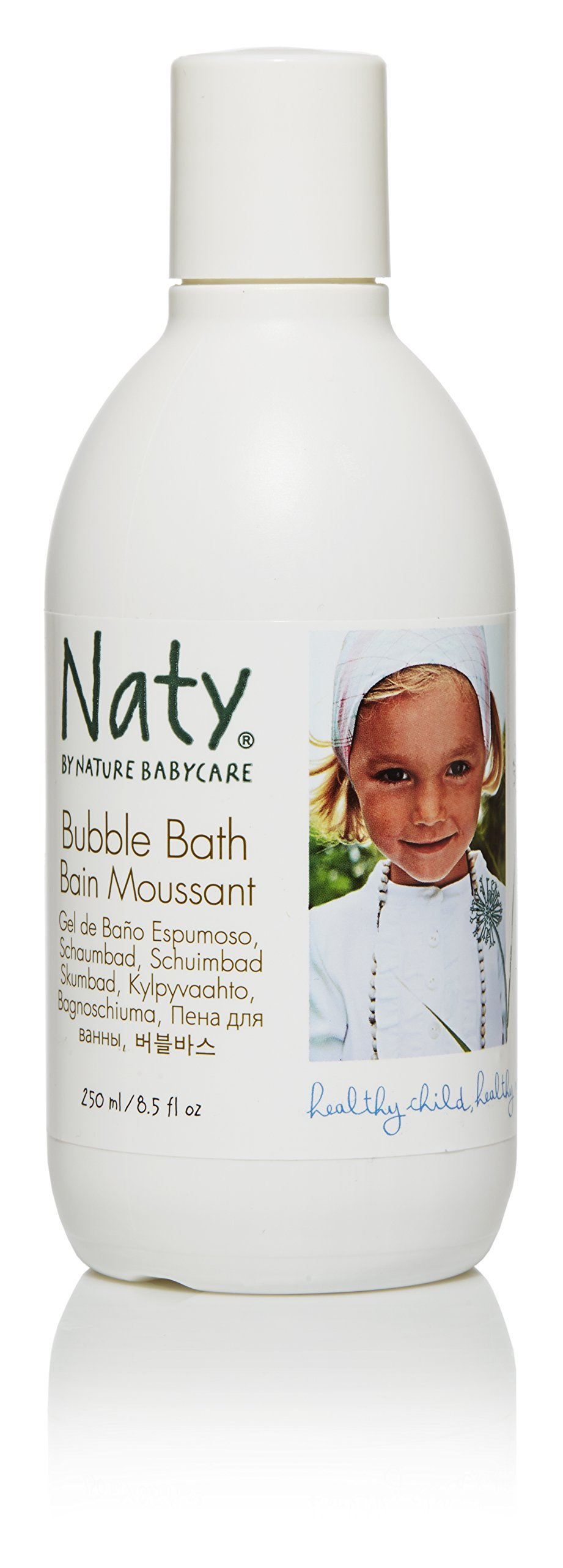 Naty Eco Bubble Bath, Perfume Free, 8.5-Ounce (Pack of 2) by Naty by Nature Babycare