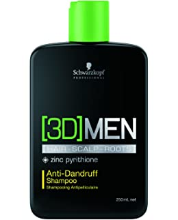 Schwarzkopf - 3D Men - Hair-Scalp-Roots - Champú anticaspa, 250 ml