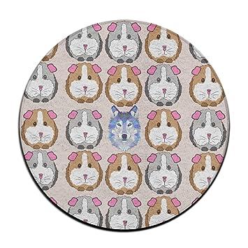 Wolf in Meerschweinchen rund Boden Teppich Fußmatten für Esszimmer ...
