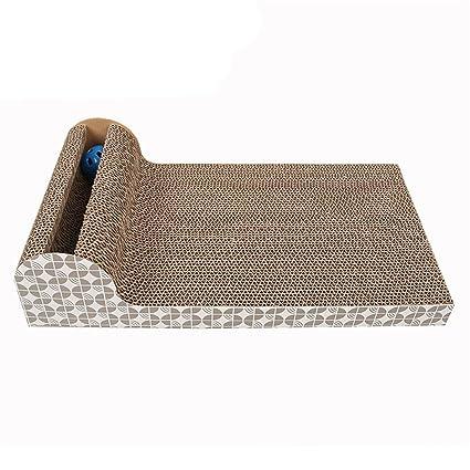Aszhdfihas Puzzle de cartón Corrugado Gato Scratch Board Pet ...