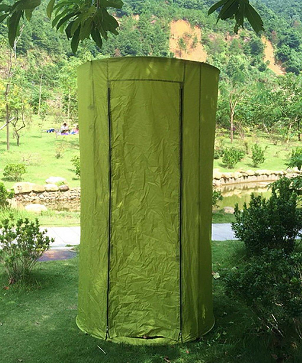 HAIPENG Außendusche Wechsel Kleidung Zelt Warm Und Warm Halten Toilettenzelte Angeln Fotografie Zelte Blau Und Grün (Farbe : Grün, größe : 110  190cm)