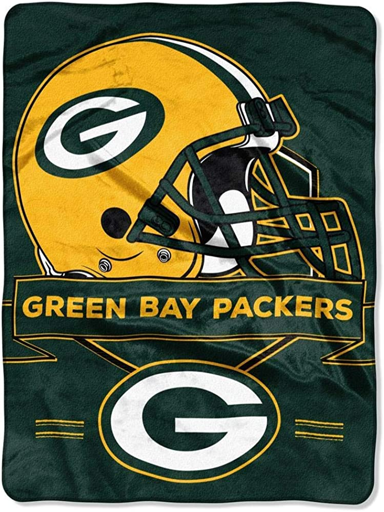 "NFL Green Bay Packers ""Prestige"" Raschel Throw Blanket, 60"" x 80"" 71HqQn2QkRL"