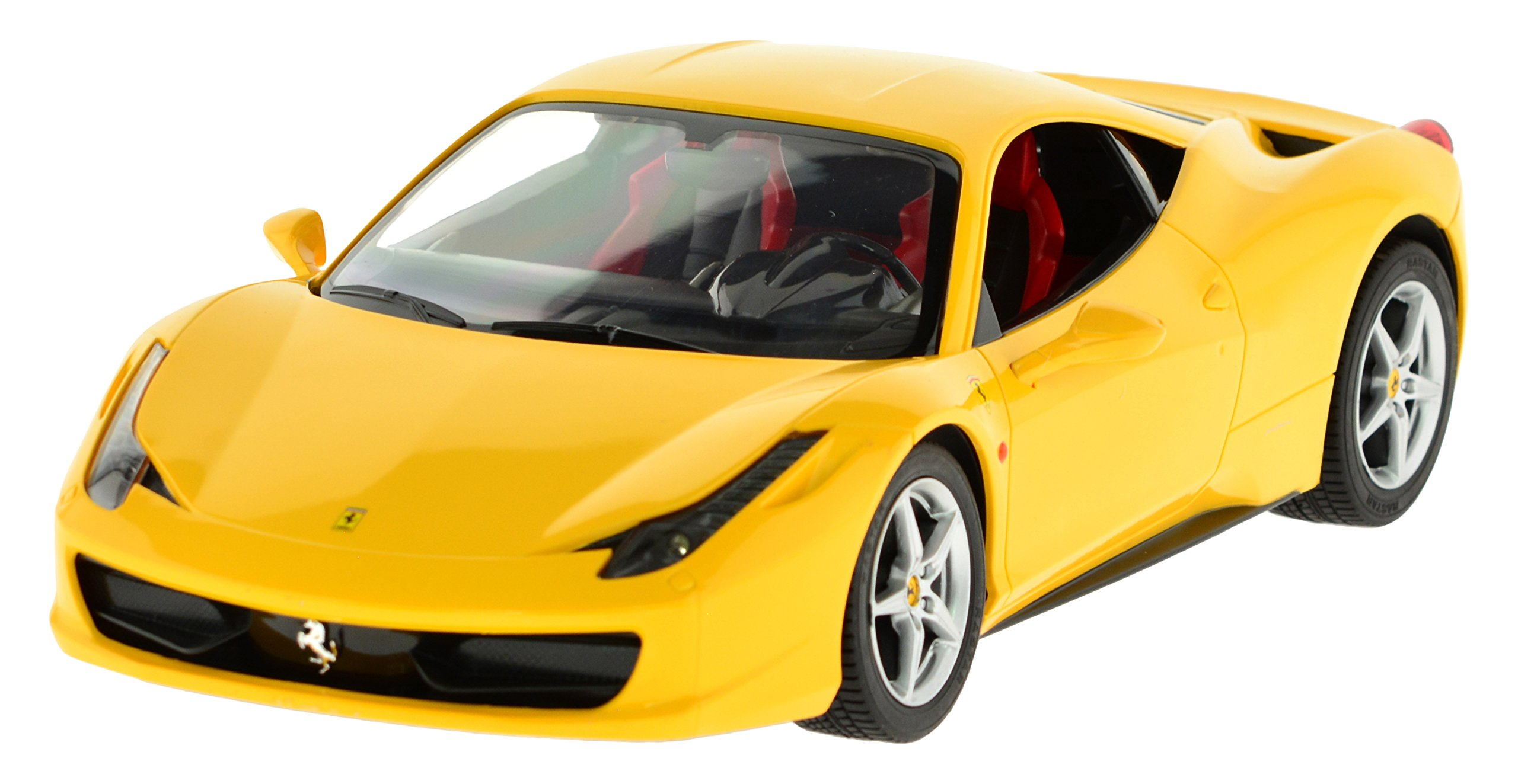 Carmel 1:14 Ferrari 458 Italia 2.4Ghz with Lights Rechargeable Battery, Yellow by Carmel