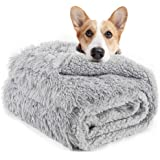 LOCHAS Luxury Velvet Fluffy Dog Blanket, Extra Soft and Warm Sherpa Fleece Pet Blankets for Dogs Cats, Plush Furry Faux…