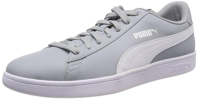 Puma Smash V2 L Sneakers Erwachsene Damen Herren Unisex Grau mit weißen Streifen (Quarry)