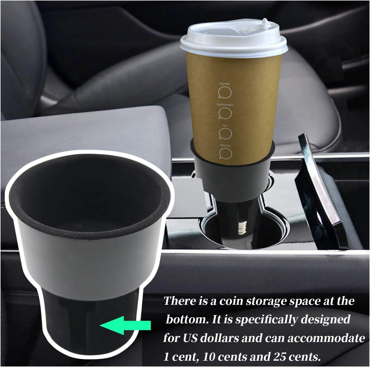 YEE PIN Car Cup Holder Expander Adapter for 2018 2019 2020 Tesla Model 3 Model Y