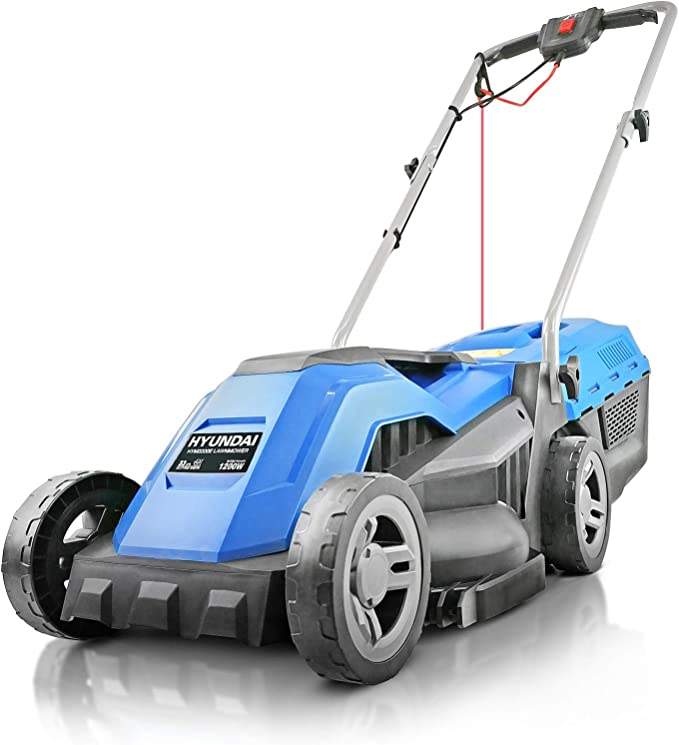Hyundai HYM3300E 33cm Electric Lawn Mower & Roller - Strong and Reliable