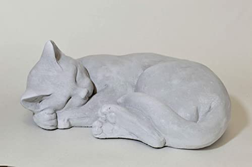 Stoneworks Curled Cat Garden Statue 12 L