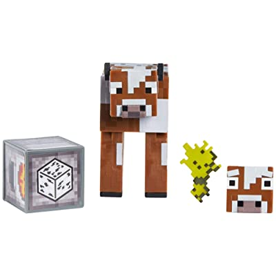 "Minecraft 3.25"" Cow, Multi (GLC67): Toys & Games"