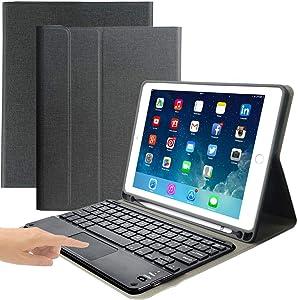 iPad Keyboard Case for iPad 2018 (6th Gen) - iPad 2017 (5th Gen) - iPad Pro 9.7 - iPad Air 2 -Eoso iPad Cover with Keyboard Built-in Touchpad & Pencil Holder (9.7