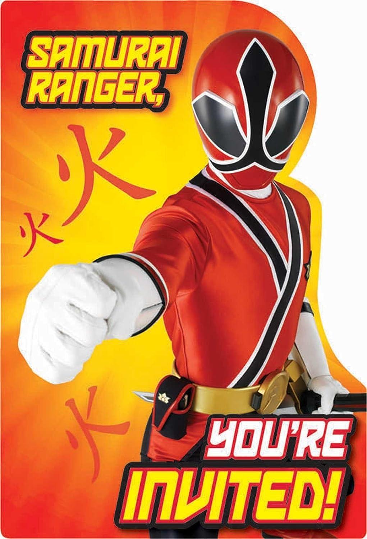 Amazon Power Rangers Samurai Invitations w Envelopes 8ct – Power Rangers Party Invitations