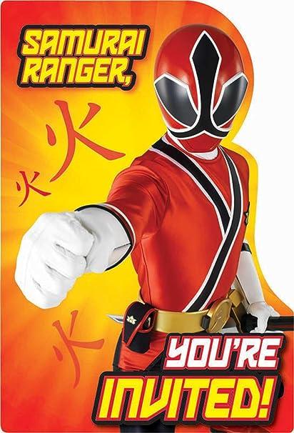 Amazon.com: Power Rangers Samurai Invitations w/ Envelopes ...