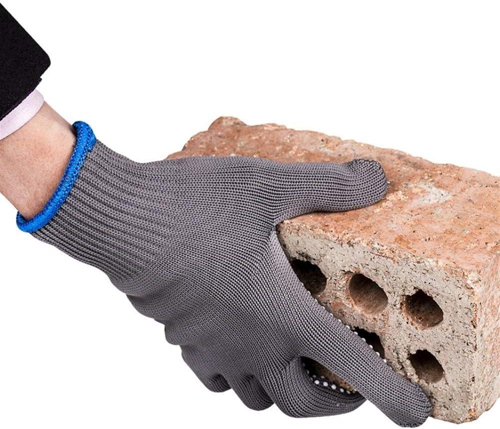 La seguridad Guantes de seguro laboral Guantes de trabajo de hilo de algodón grueso antideslizante resistente al desgaste (Color : Dark gary, Style : 12 pair): Amazon.es: Bricolaje y herramientas