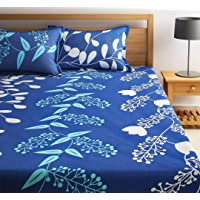 Teyja collections Super Soft Glace Cotton Double bedsheet