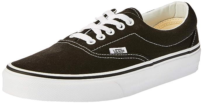 Vans Era Sneakers Canvas Unisex Erwachsene Schwarz/Weiß