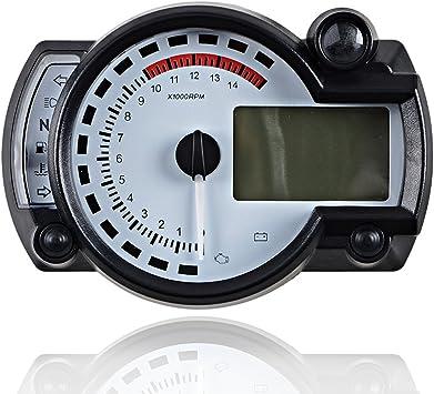 15000rpm Km//h Motorcycle LCD Digital Speedometer Tachometer Odometer Gauge LED
