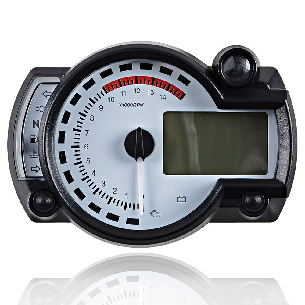 15000RPM Universal Motorcycle Digital LCD km/h MPH Speedometer Odometer Tachometer Gauge for 8-22 inch wheel LCD Digital Speedometer