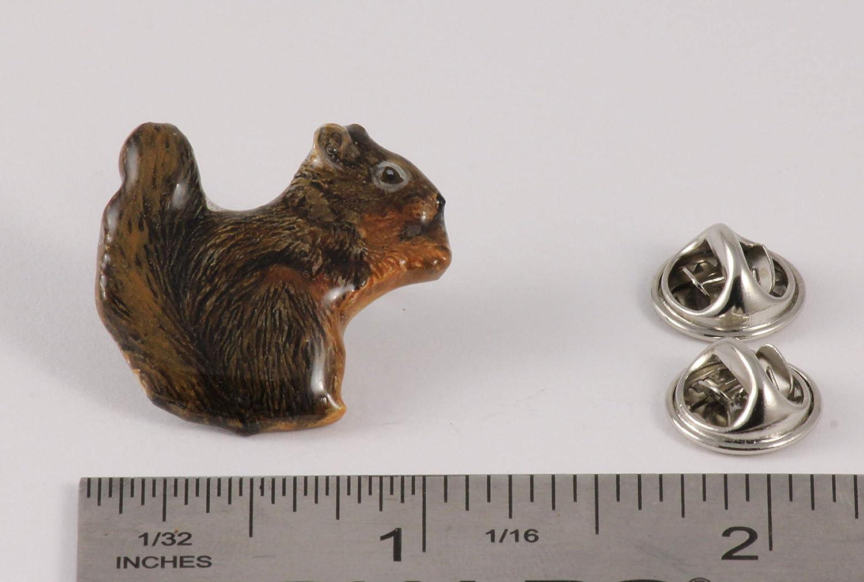 Jewelry Squirrel Mammal Pewter Lapel Pin M184 Brooch