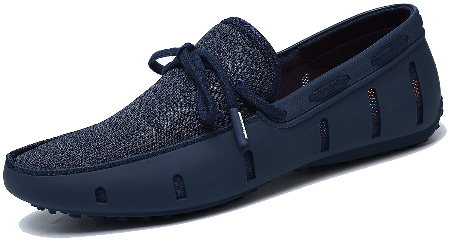 Adadila Men's Classic Braided Lace Loafer Breathable Slip On Ultra Light Shoes 42 M EU / 8.5-9D(M) US|1 Navy