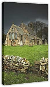 Beautiful Church Poster Small Country Church For Living Room bedroom kitchen restaurant Shop office Home Decor 16×24inch(40×60cm) Frame-style1