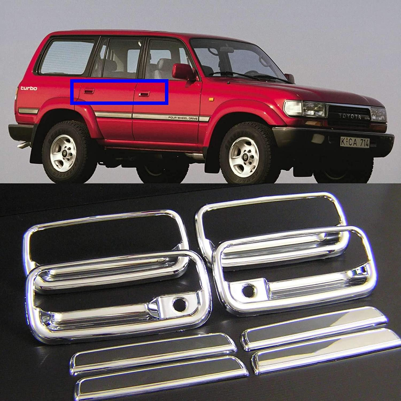 Door Handle Exterior Chrome Front LH /& RH Pair Set for 91-97 Toyota Land Cruiser