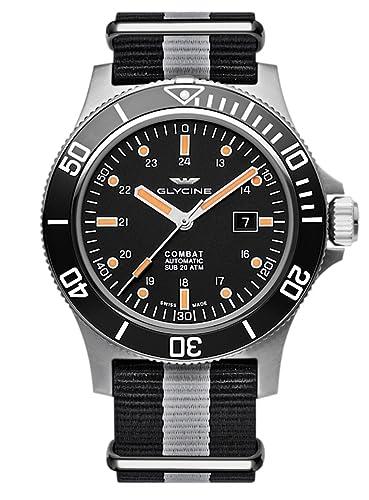 Glycine Airman Combat SUB Fecha - Reloj de pulsera analógico automático 3951.199.n1.tb90: Amazon.es: Relojes