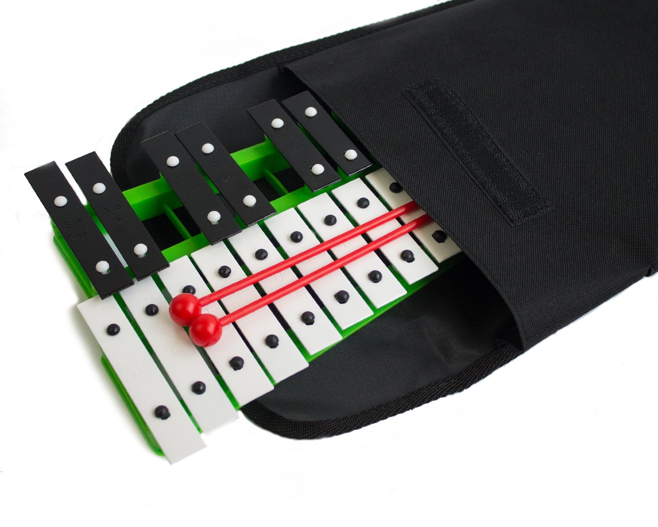 ProKussion School Series 27 Key Green Glockenspiel Xylophone with Deluxe Soft Carry Case by Pro Kussion