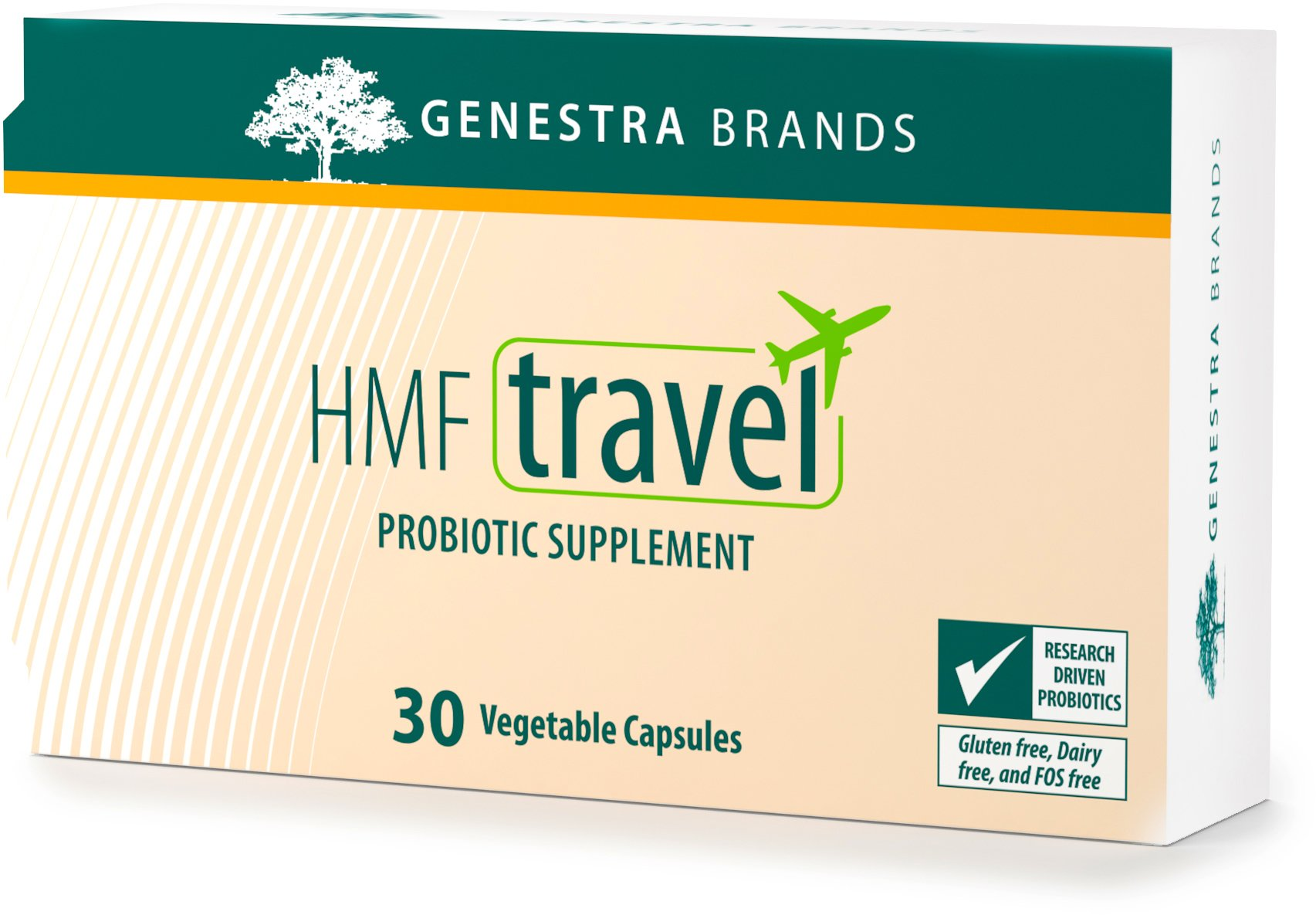 Genestra Brands - HMF Travel - Shelf Stable Probiotics to Support Gastrointestinal Health When Travelling - 30 Capsules
