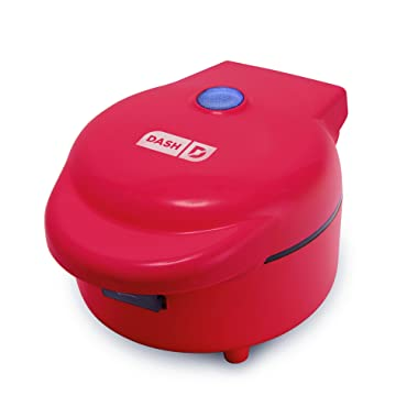 DASH Waffle Bowl Maker: The Waffle Maker Machine for Individual Waffle Bowls, Belgian Waffles, Taco Bowls, Chicken & Waffles, other Sweet or Savory Treats - Red