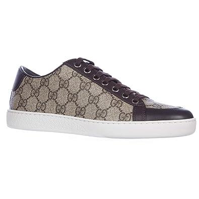 7d9d2017a0 Gucci Chaussures Baskets Sneakers Femme Tissu GG Supreme mirò Soft Marron