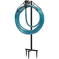 Freestanding Garden Hose Holder Hanger Stand Storage Organiser Detachable Metal Rack Water Flexible Pipe with Ground…
