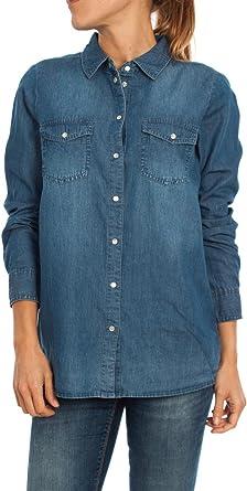 Camisa Only Always Oscura 42 Azul: Amazon.es: Ropa y accesorios