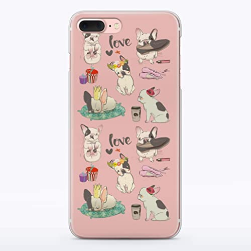 new concept fe1d9 ed843 Amazon.com: French Bulldog i Phone Case Frenchie Dad Mom Cute Dog ...